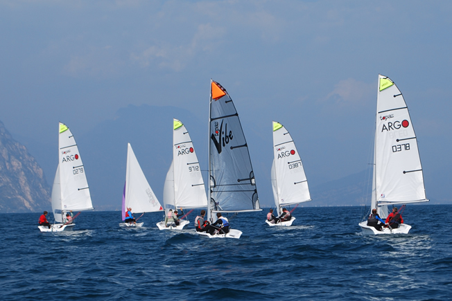 Dinghy sailing during activity holiday