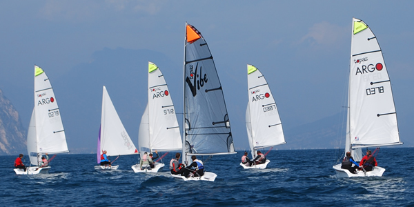 Family sailing holiday fleet on Lake Garda