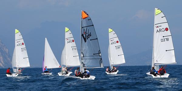 Europa Holidays dinghy rental and training fleet on Lake Garda