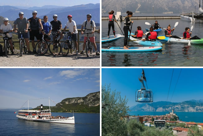 Family activities for holiday - SUP, kayak, boat trip, cablecar