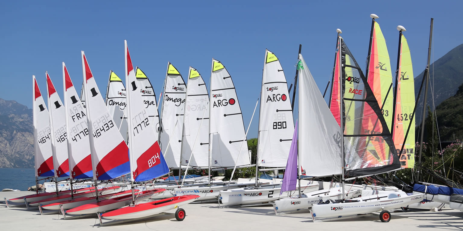 Dinghy rental fleet ready to go