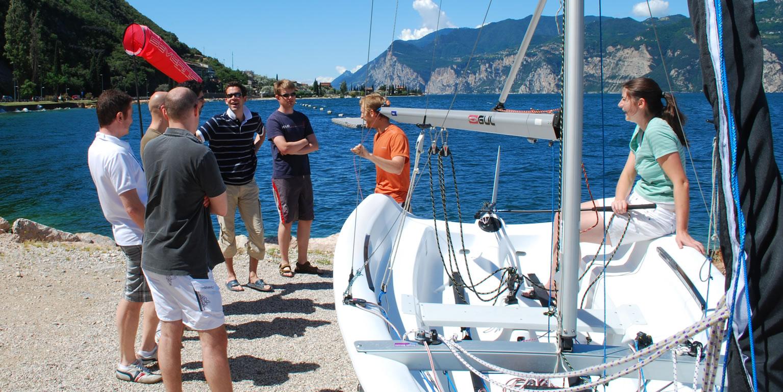 RYA dinghy sailing courses land element