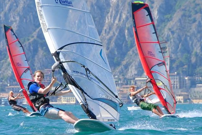 Activity holiday windsurfers with Europa Holidays