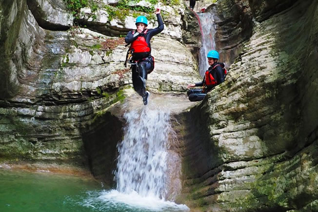 attractions include canyoning