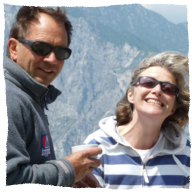 Lake Garda hosts Charles and Alison