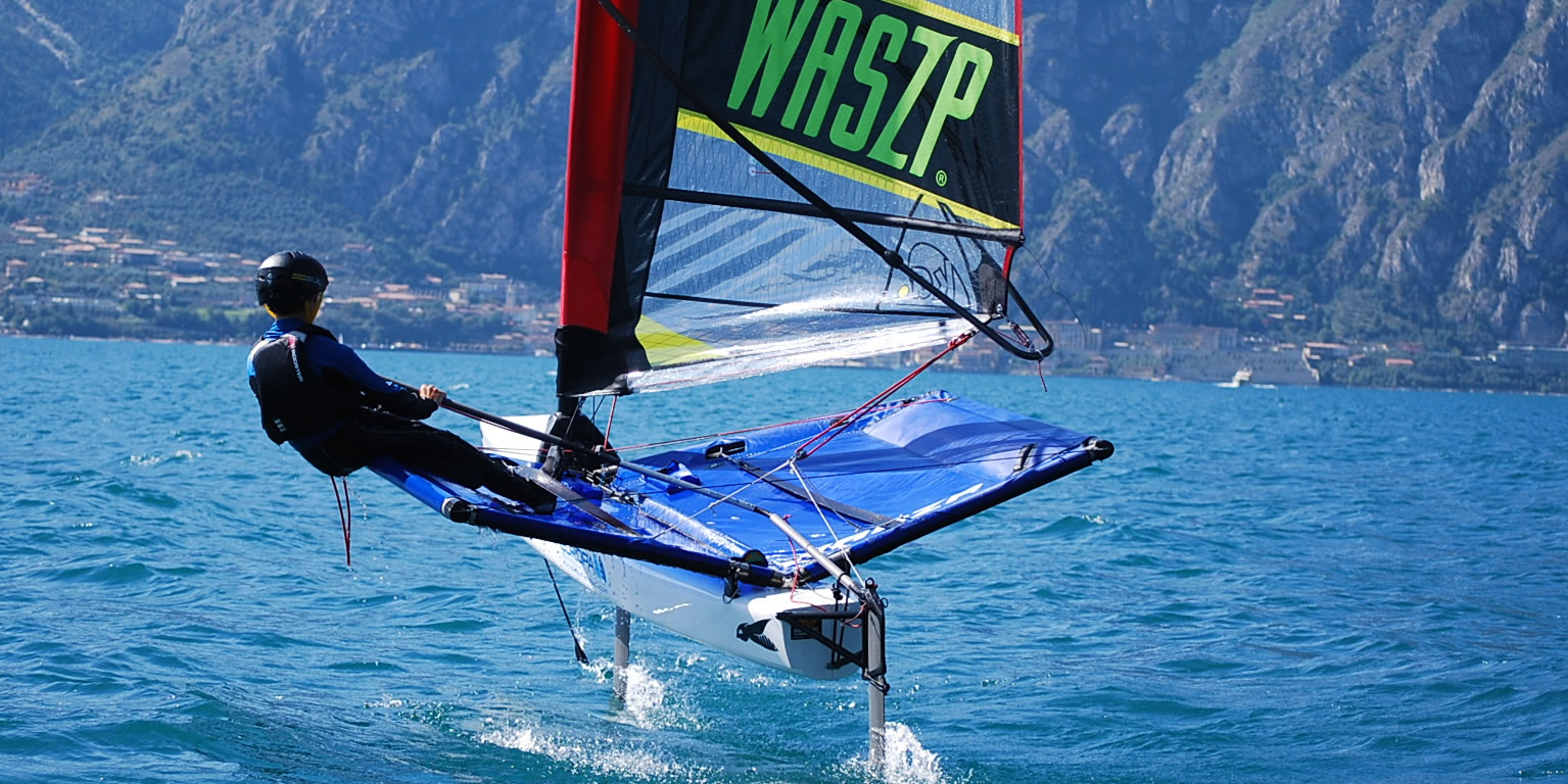 Student on foiling course