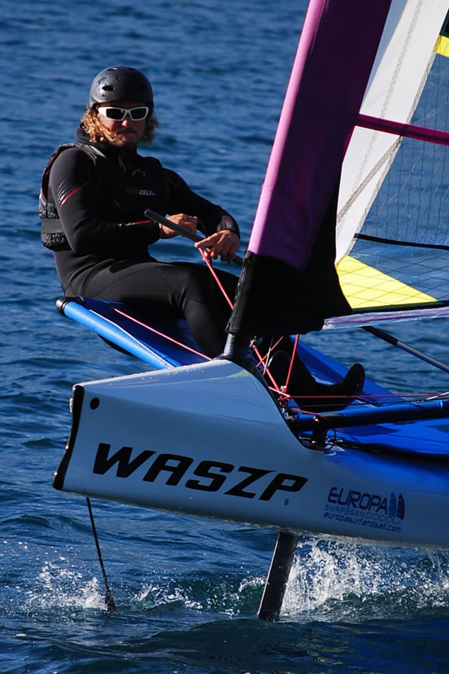 Foiling course instructor Marco