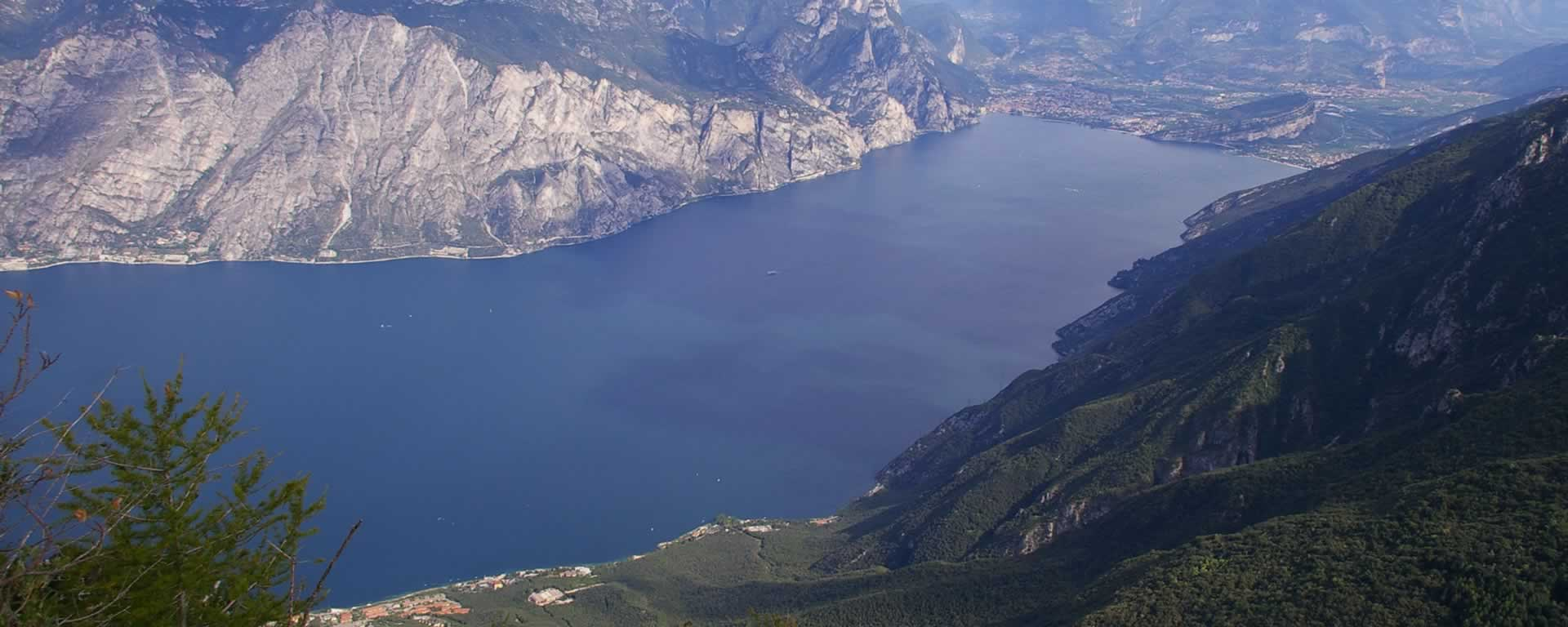 Lake Garda seen from above Navene