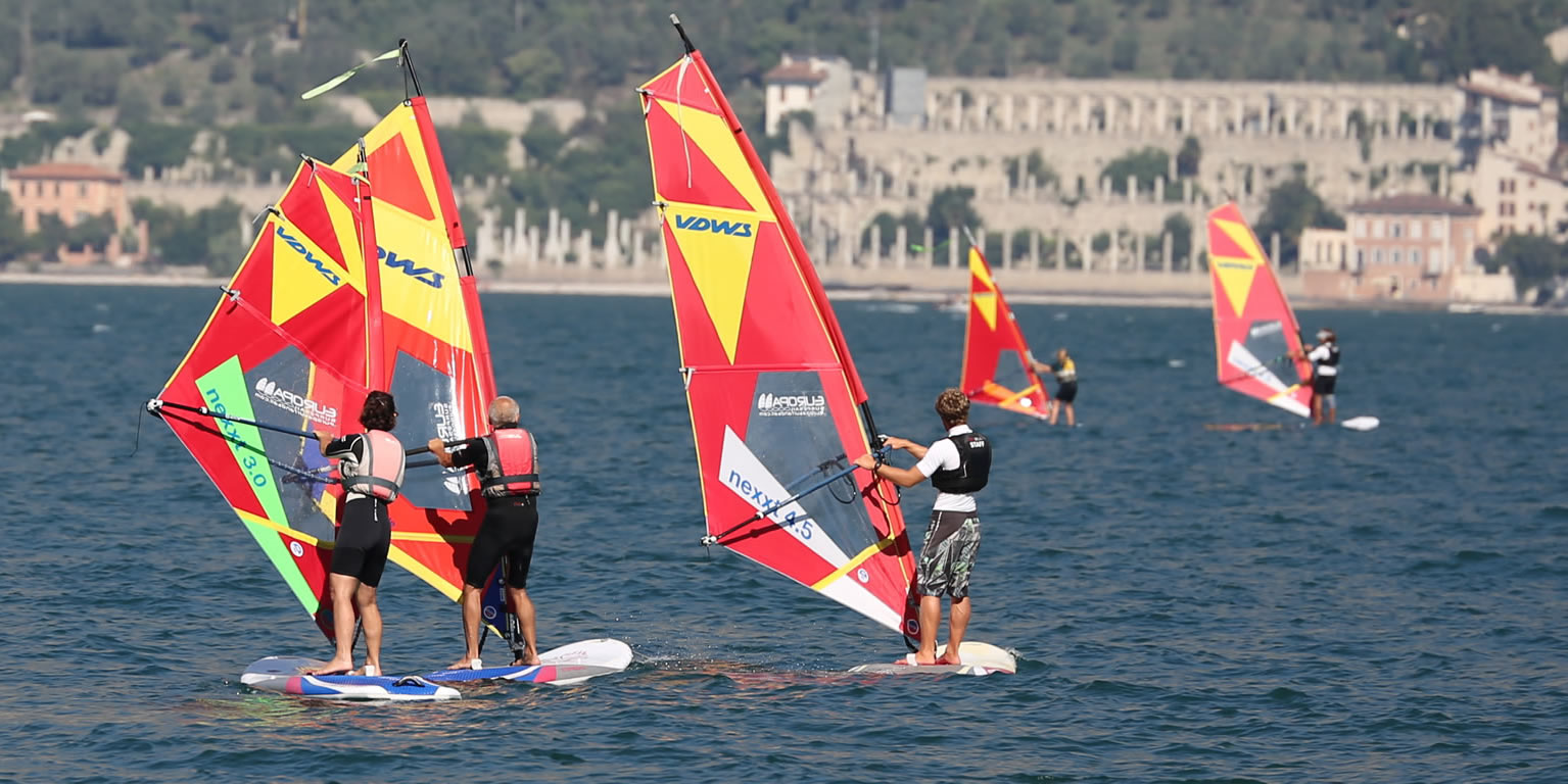 RYA windsurfing courses in progress