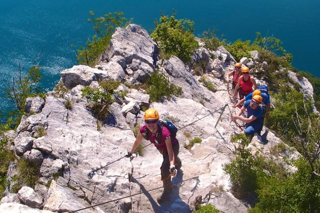 attractions include via ferrata