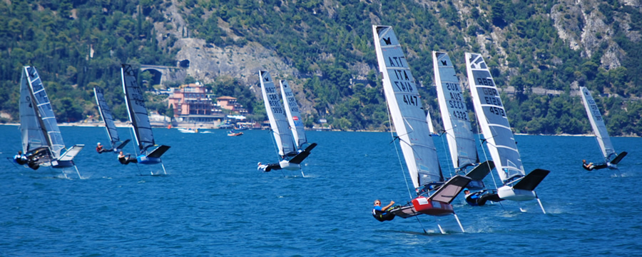 WASZP racing on Garda
